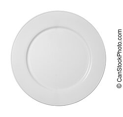 white dishes kitchen plate - close up of white ceramic plate...
