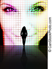Beauty Perception Concept - Illustration with a silhouette...