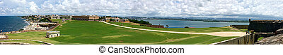 Old San Juan Pano - Wide angle panoramic view of Old San...