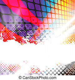 Halftone Splatter Layout - A colorful abstract background...