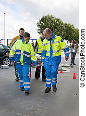 emergencia, servicios, acción