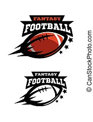 American football fantsy. Two options logo. - American...