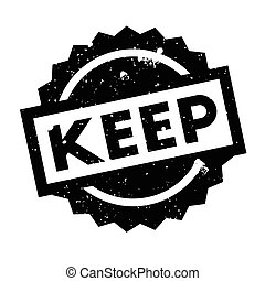 Keep rubber stamp