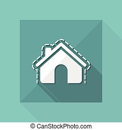 Vector illustration of house protection single isolated icon