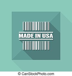 Vector illustration of single isolated made in USA icon