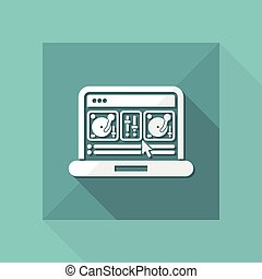 Deejay mixing console icon