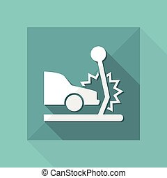 Vector illustration of car crash single isolated icon