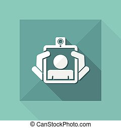 Webcam tablet icon