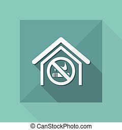Vector illustration of single isolated no smoke area icon