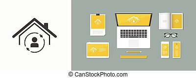 House full protection - Vector web icon