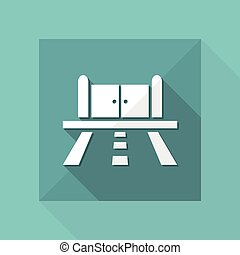 Vector illustration of road gate icon