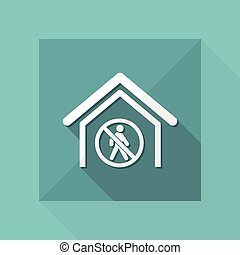 Vector illustration of single isolated forbidden acces icon