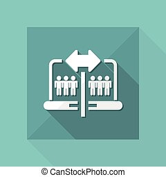 Vector illustration of single isolated share icon