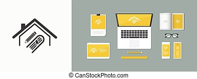 Library or school concept - Vector web icon