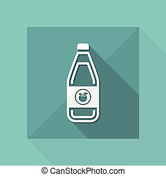 Vector illustration of single isolated juice icon