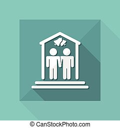 Vector illustration of gay marriage concept