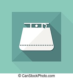 Vector illustration of single isolated skirt icon