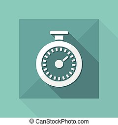 Vector illustration of single isolated timer icon