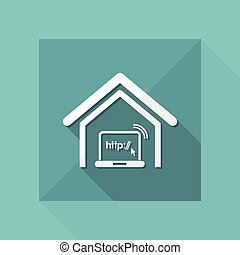 Vector illustration of single isolated connection web icon