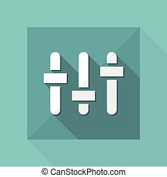 Vector illustration of single isolated mixer levels icon