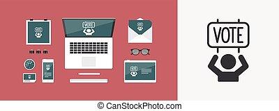 Electoral supporters - Vector web icon