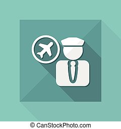Vector illustration of single isolated air pilot icon