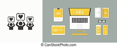 Demostration for peace and love - Vector web icon