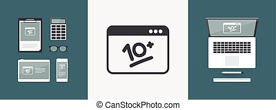 10+ Top performance -  Vector flat icon