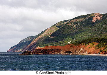 Cabot Trail in Cape Breton Highlands National Park, Nova...