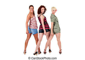 Three attractive young women