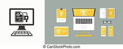 Automotive online quote - Yen - Vector flat icon