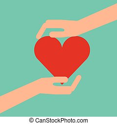 hands with heart icon