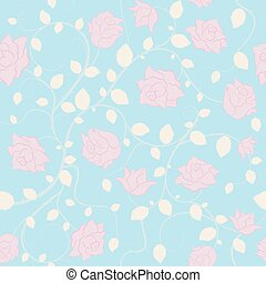 Seamless wedding pattern. Trendy seamless floral pattern.