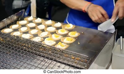 Asian sweet street food.