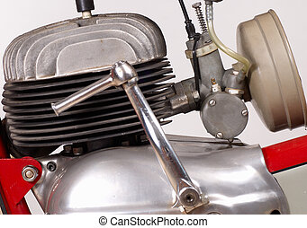 Motorbike Engine - Classic single cylinder four stroke...