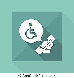 Handicap assistance line