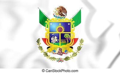 Flag_of_Queretaro - 3D Flag of Queretaro, Mexico. 3D...