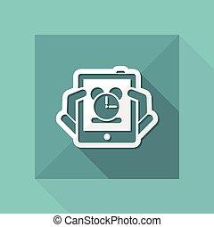 Tablet clock icon