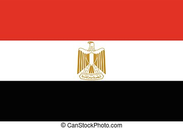 Official vector flag of Arab Republic of Egypt .