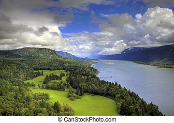 Columbia River Gorge capture from the cape on the Washington...