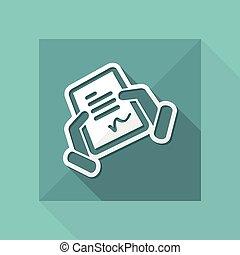 Document signature icon