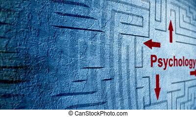 Psychology maze concept