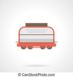 Universal boxcar flat color vector icon - Covered universal...