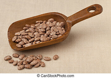 rustic scoop of pinto beans