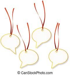 Pendant Set - speech bubble - set of pendants with...