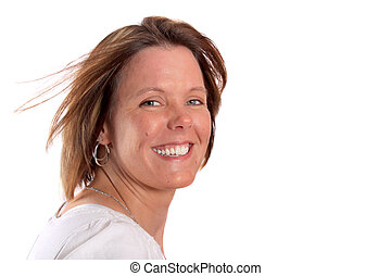 Pretty smiling woman in her thirties