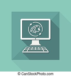 Poker online gaming - Vector flat icon