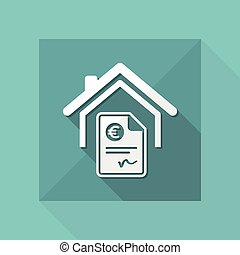 Home cost icon - Euro
