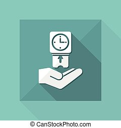 Clocking-in card - Vector flat icon