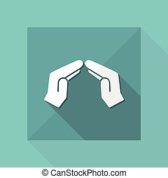 Protection gesture - Vector minimal icon